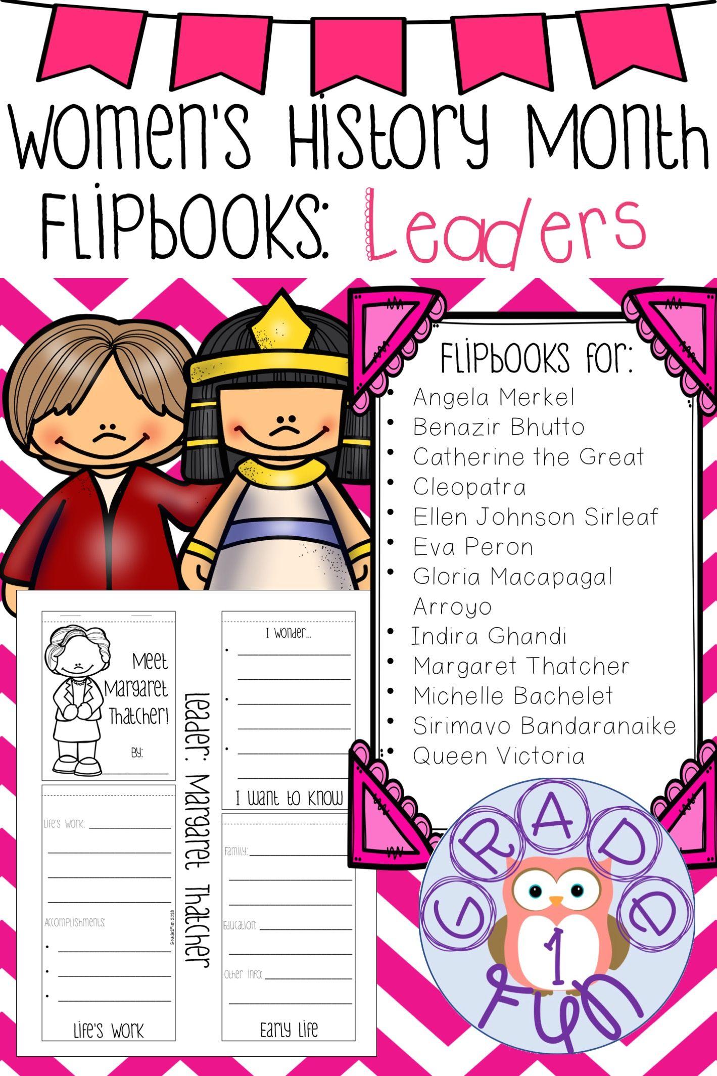 Women S History Month Flipbooks Leaders