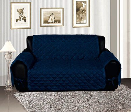 Amazon Com Navy Blue Quilted Micro Suede Pet Dog Furniture Sofa Slipcover Protector Throw Slipcover Sets Sofa Covers Loveseat Slipcovers Furniture Covers