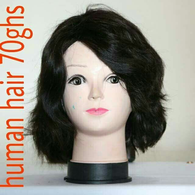 Short Human Hair Wig Cap At Ghs 70 In Ghana Delivery At A Fee Call 0245346590 Short Human Hair Wigs Wig Hairstyles Human Hair Wigs