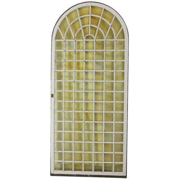 1890s Huge Greenhouse Arched Window, Antique Conservatory (1,270 CAD) ❤ liked on Polyvore featuring home and home decor