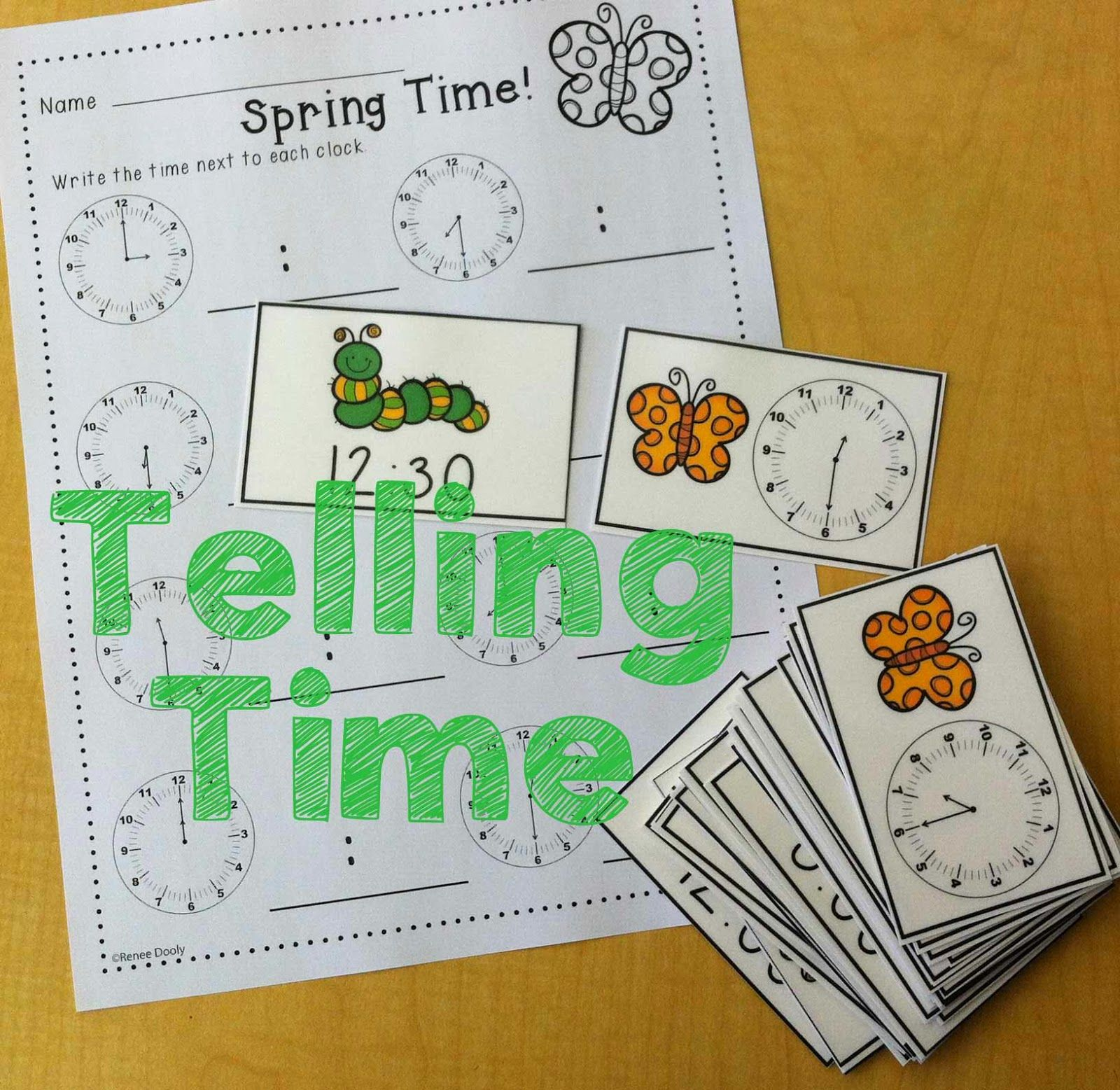 Spring Math Centers Telling Time