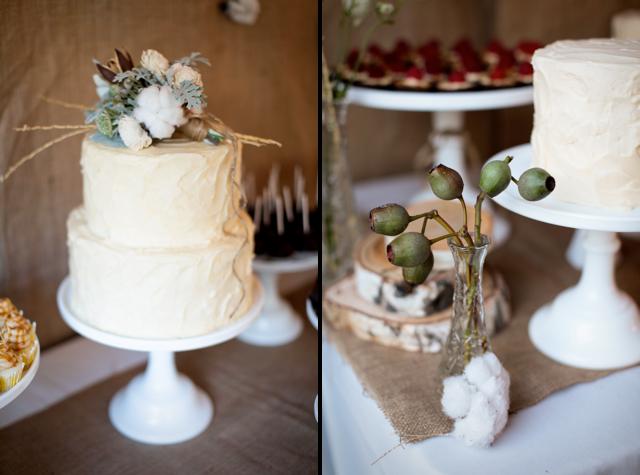 amazing cotton themed wedding, cotton cake topper