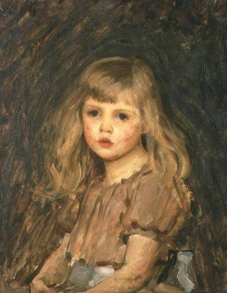 Portrait of a Girl ~ John William Waterhouse ~ (English, 1849-1917)