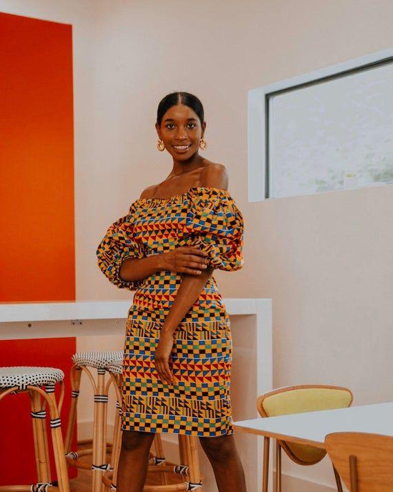 Ankara Dress African Clothing African Dress African Print Dress African Fashion Women's Clothing African Fabric Short Dress Summer Dress #africanfashionankara