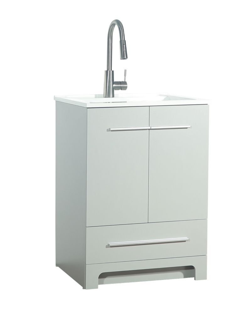 25 Inch Laundry Cabinet In Grey Laundry Cabinets Cabinet