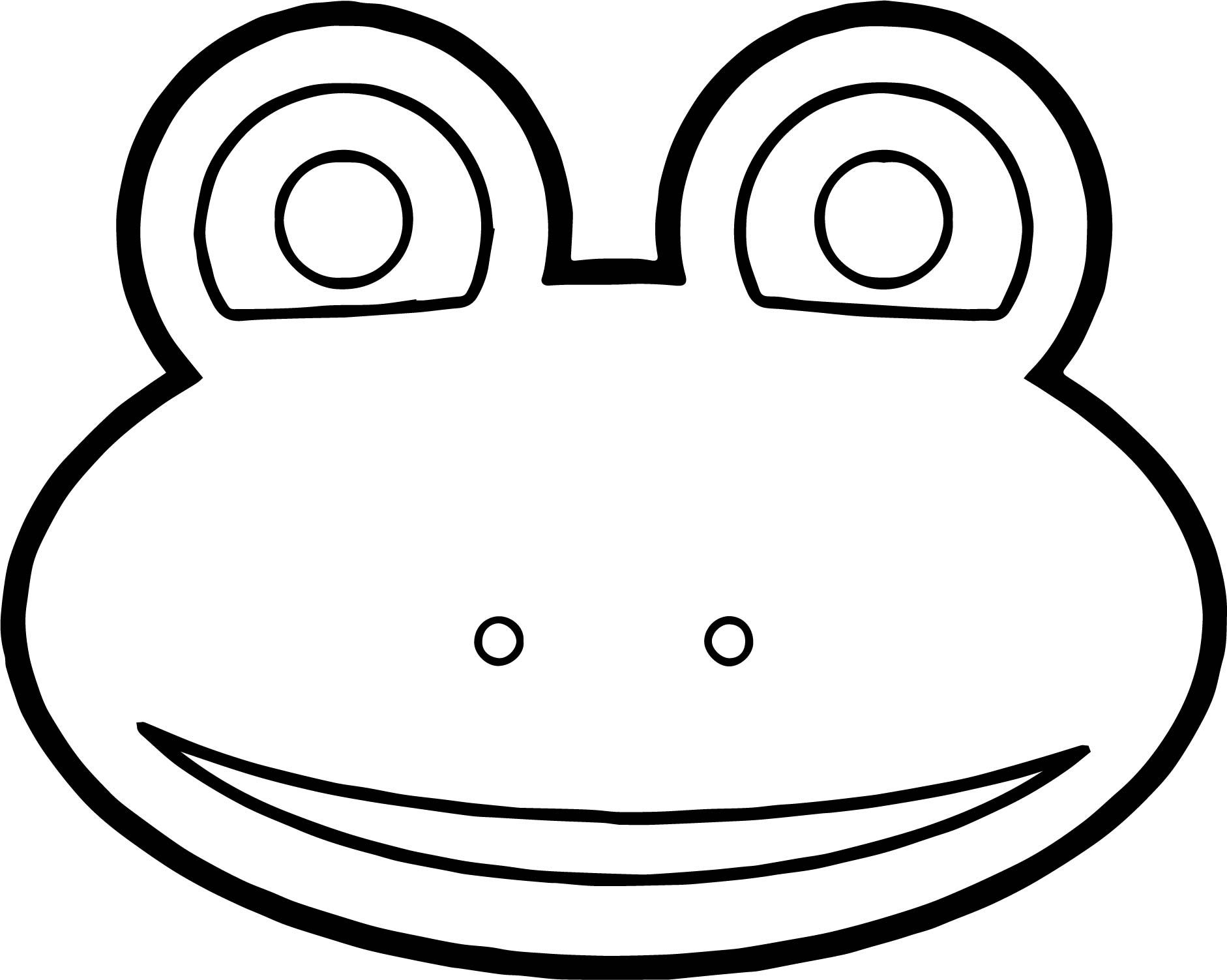Nice Frog Face Cartoon Coloring Page Coloring Pages Cartoon