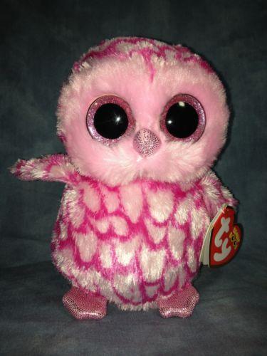 08fbfb03908 RARE Retired Ty Beanie Baby Beanie Boo Pinky The Pink Halloween Owl 6 New