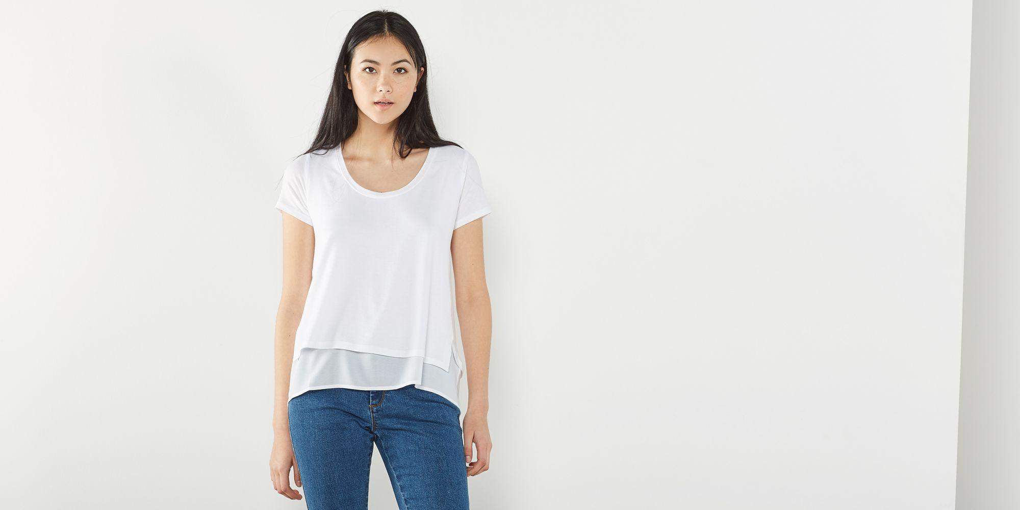 Camiseta lisa capa 616655W-17235-1
