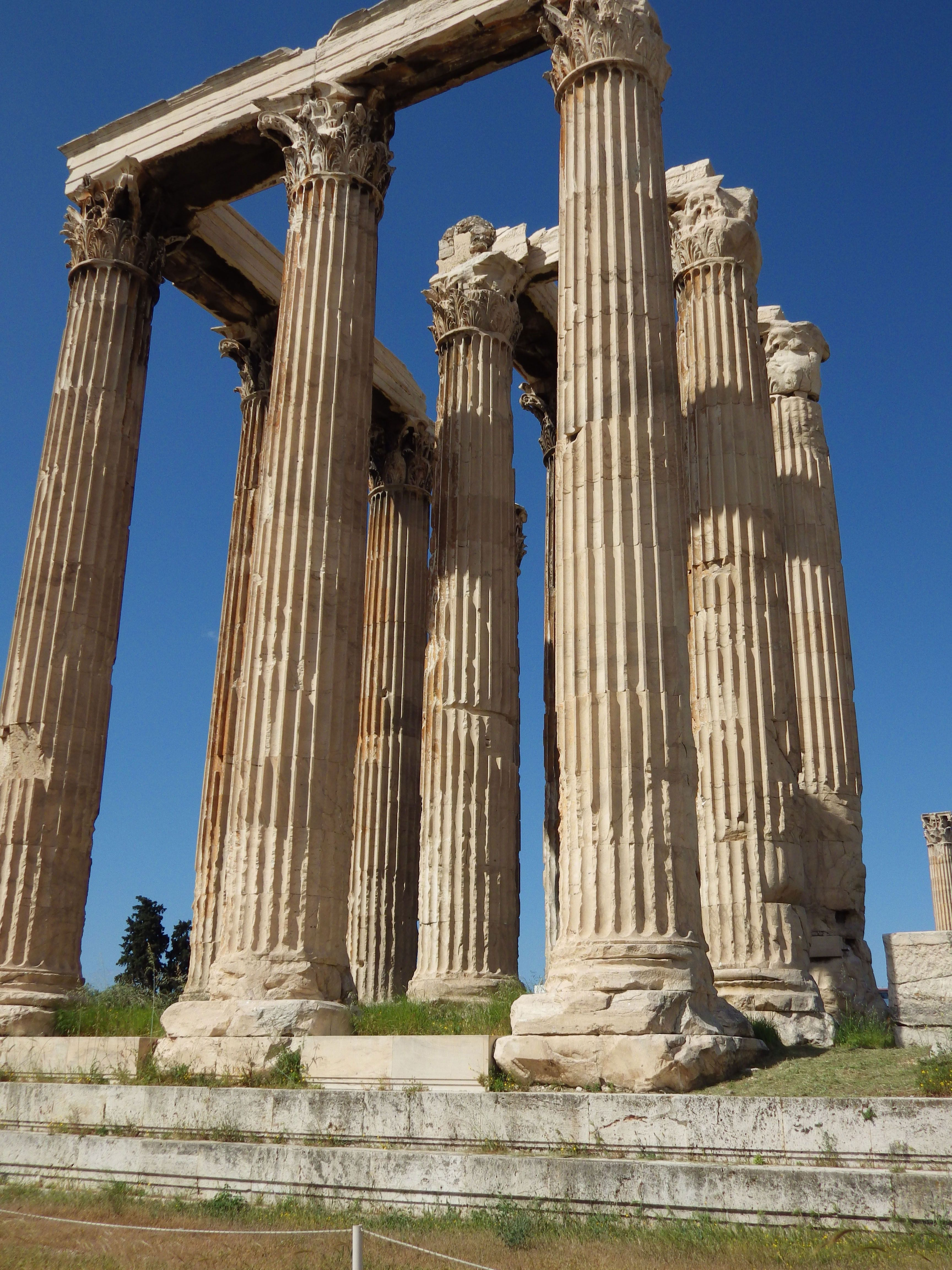 Greek Columns Years After Construction