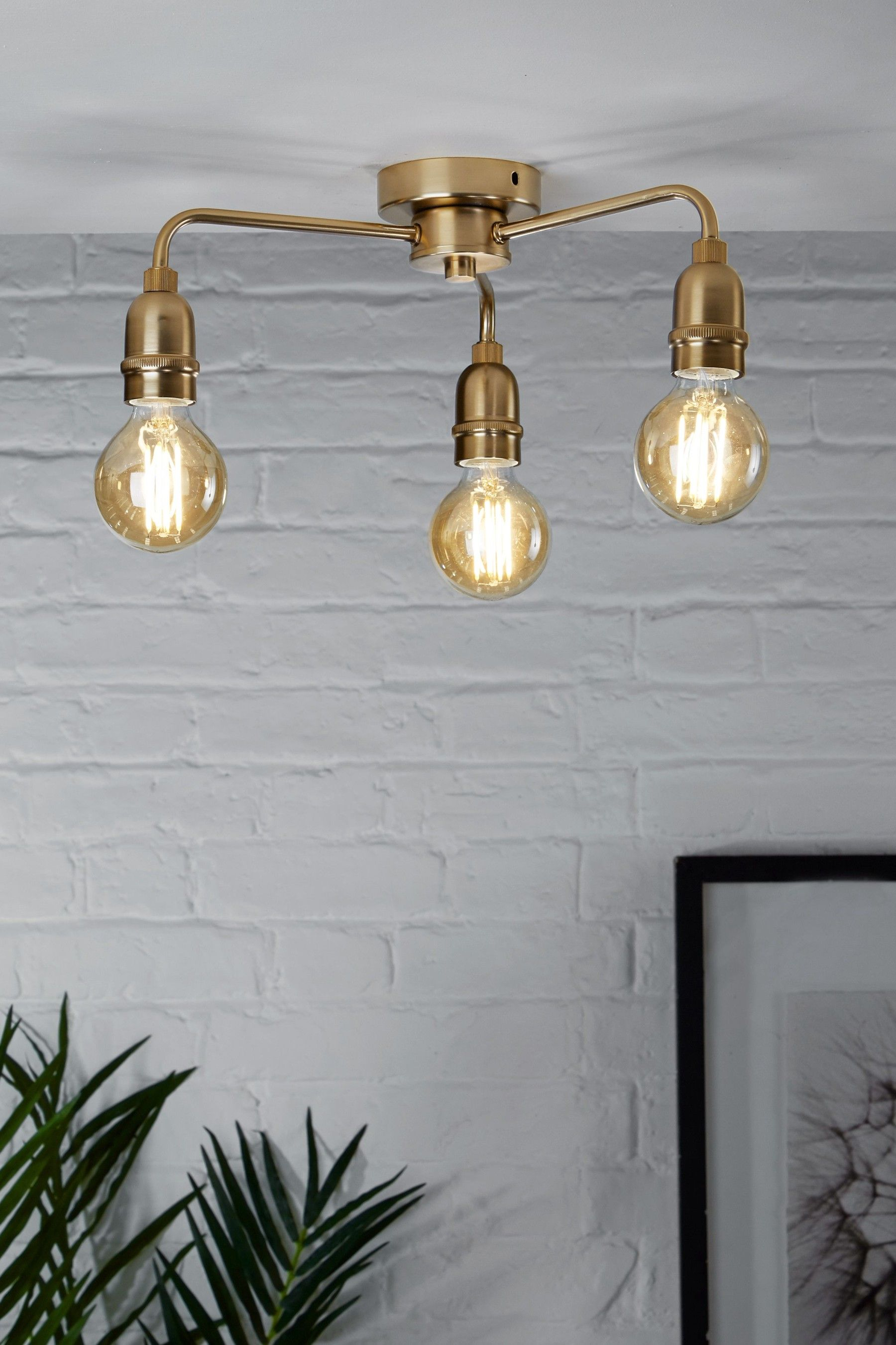Buy Brooklyn Flush Fitting From The Next Uk Online Shop Kitchen Ceiling Lights Brass Ceiling Light Ceiling Lights