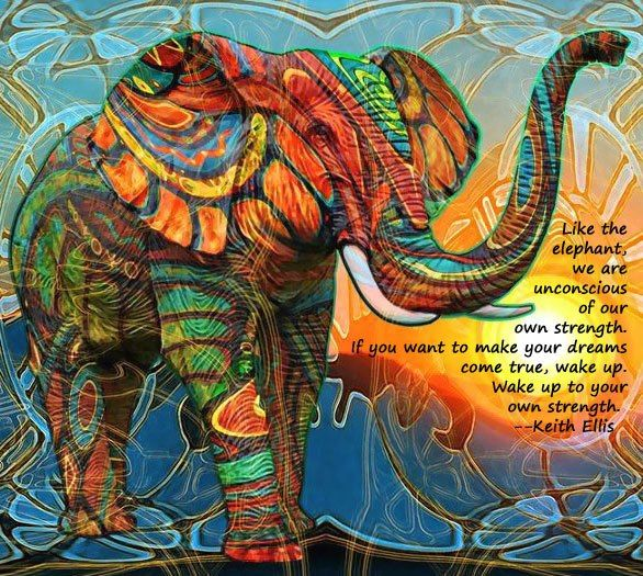 Like the elephant we are unconscious of our own strength....