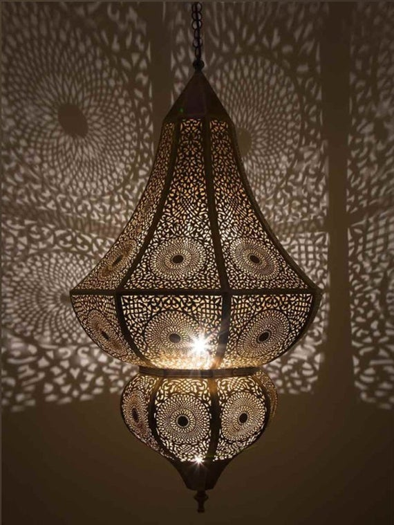 Moroccan Pendant Light Moroccan Copper Brass Moroccan Chandelier