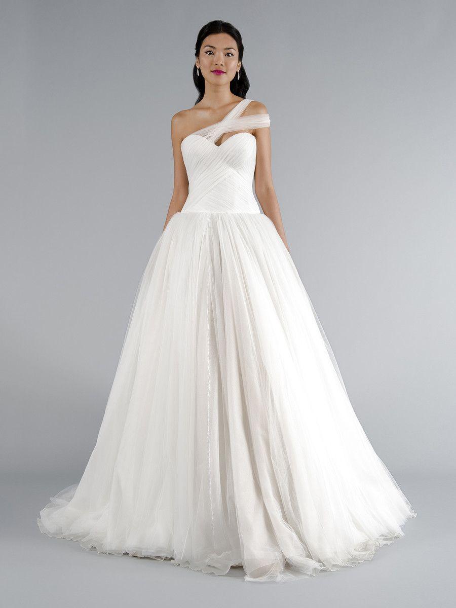 One Strap Wedding Dresses — (via Classic Formal Hip Hollywood Glam ...