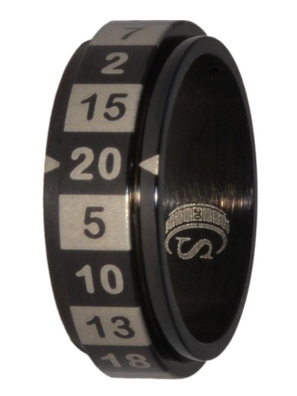Spinner Ring D20 Numbers Polyhedral Dice Ring for Dungeons /& Dragons D/&D