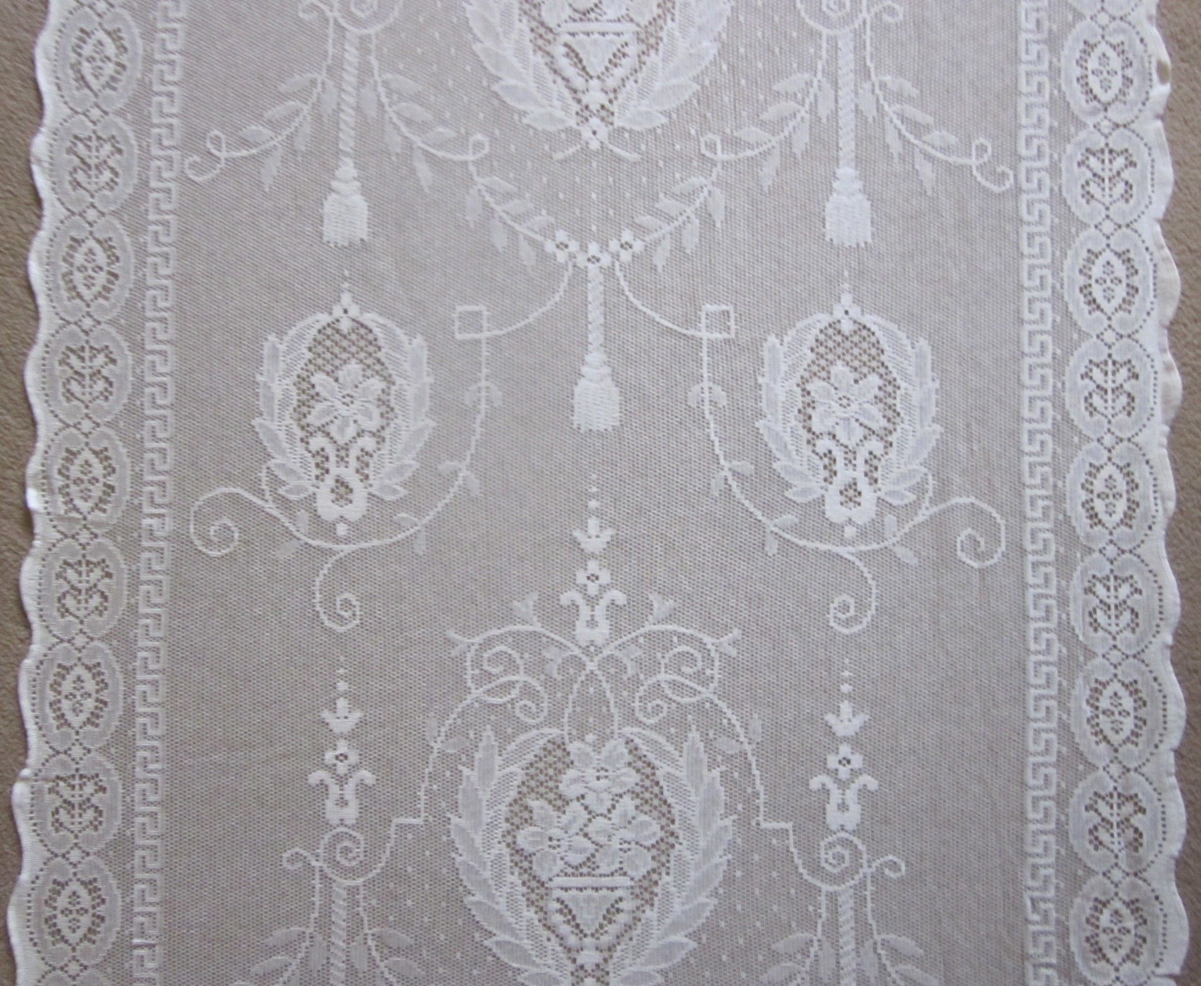 cotton deadstock arts lace antique sample curtains pin crafts panel curtain