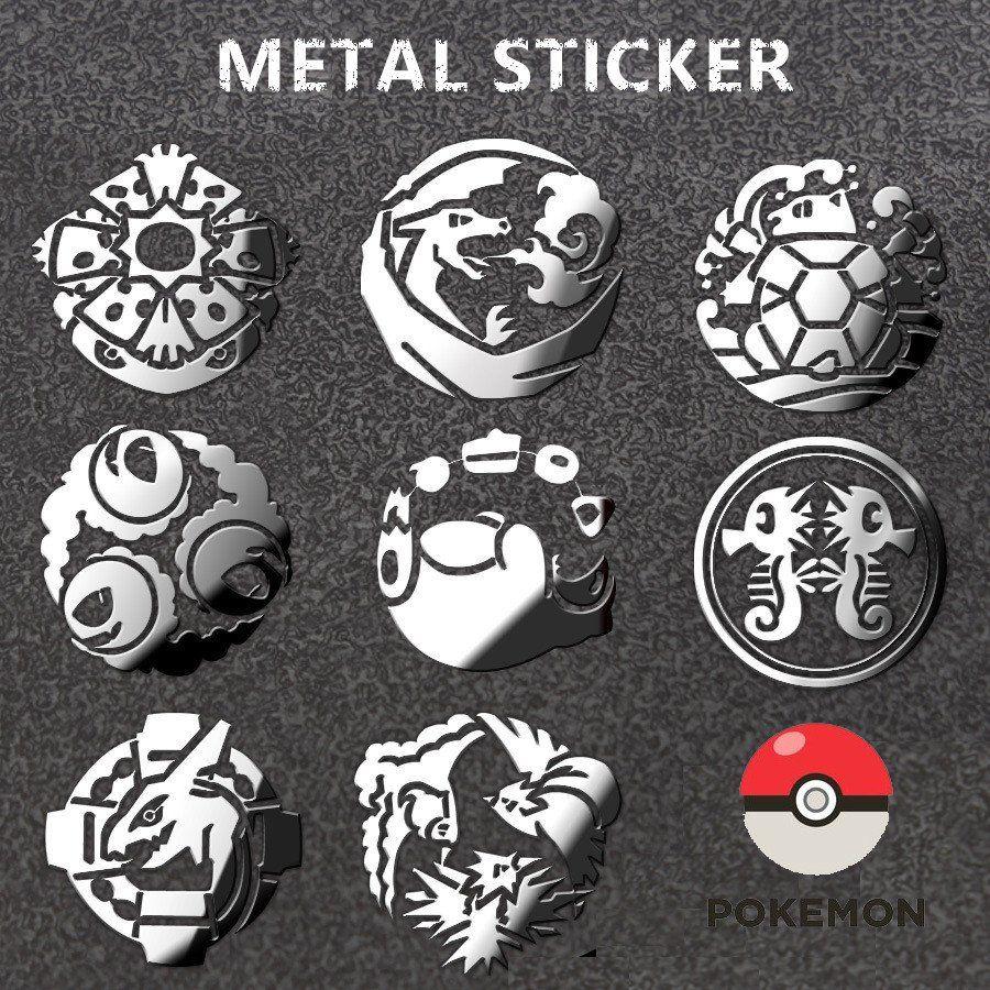 Figure 8 Cars For Sale: Metal Pokemon Sticker! New! 8 Types Of Cool Pokemon Metal