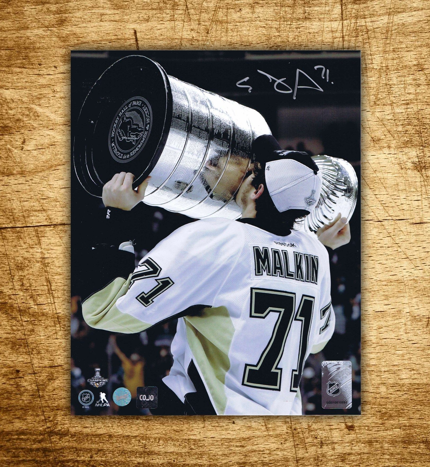 finest selection 410c9 345b7 Evgeni Malkin Pittsburgh Penguins Stanley Cup Autographed ...