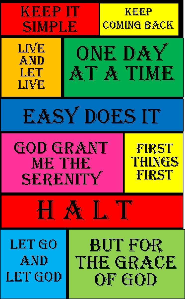 My Al Anon -Slogans, Prayers, Tools on Pinterest : Al Anon ...
