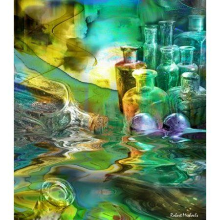 Bottled Transparency Canvas Art - Robert Michaels (19 x 22)