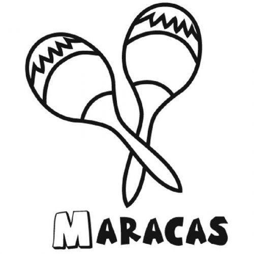 Dibujo De Unas Maracas Para Imprimir Y Colorear Bordados Music