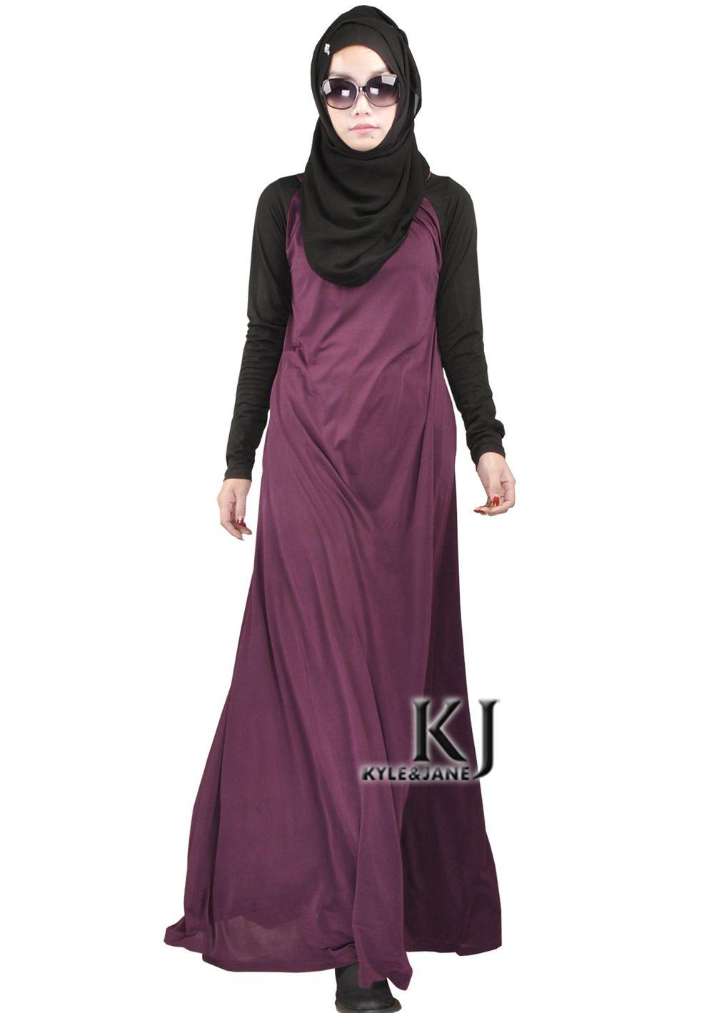 36def3726952 Fashion Muslim Dress Abaya in Dubai Islamic Clothing For Women Jilbab  Djellaba Robe Musulmane Turkish Women Clothing Side Pocket #Islamic clothing