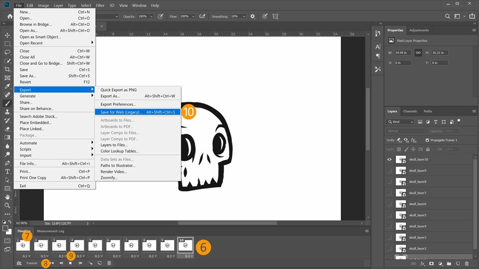 How to Create an Animated GIF in Adobe