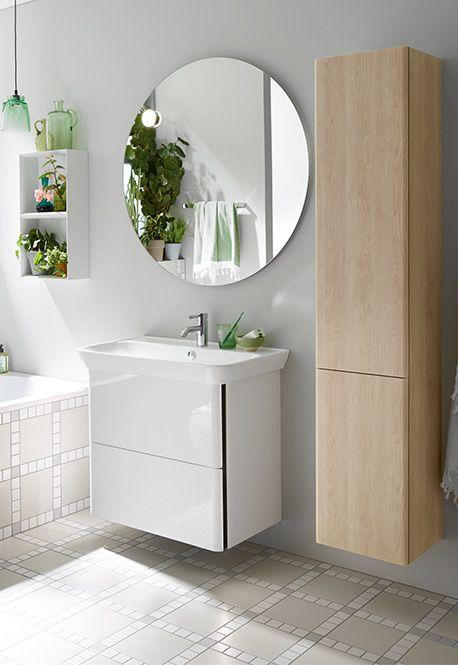 Serie Iveo von burgbad keramische Waschbecken, runde - badezimmerschrank mit waschbecken