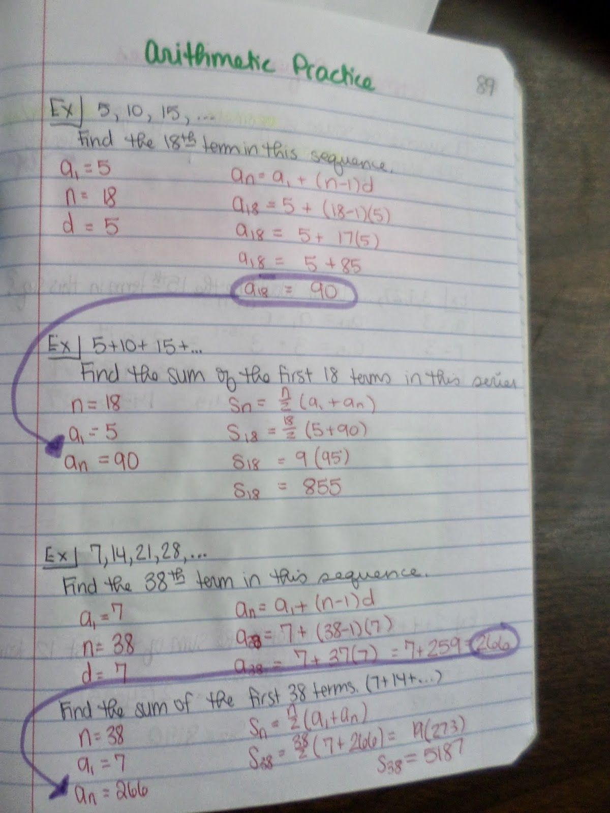 Arithmetic Sequences And Series Practice  My Interactive Notebook