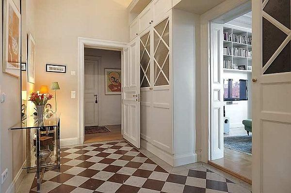 love the pattern floor and the mix of traditional and modern pieces