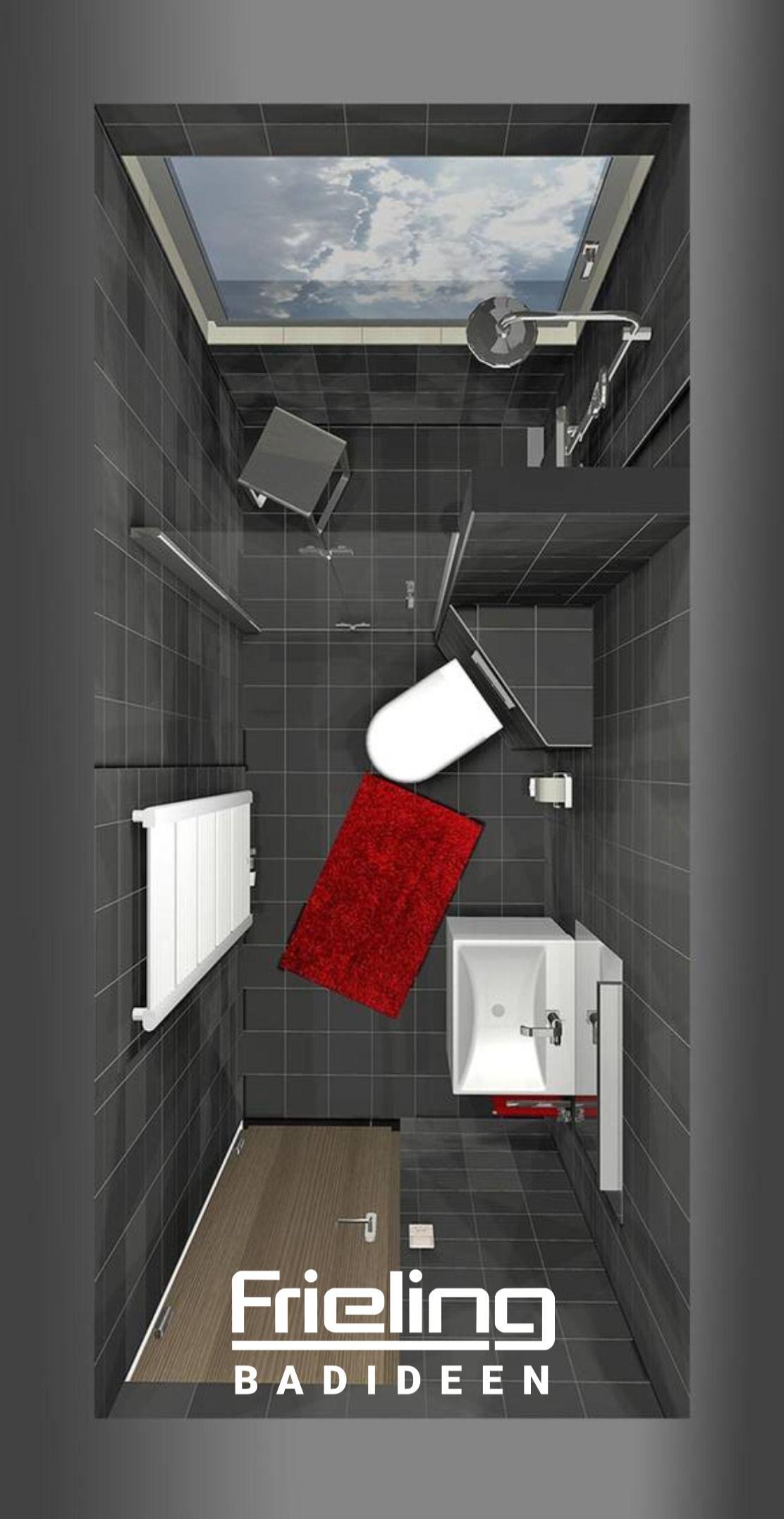 Das Schlauchbad 3d Planung Vogelperspektive 5 Qm Schwarzes Bad Farbakzente Mit Accessoires In 2020 Bad Einrichten Kleines Bad Einrichten Badezimmer Klein