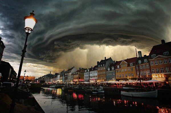 Storm in Coppenhagen.