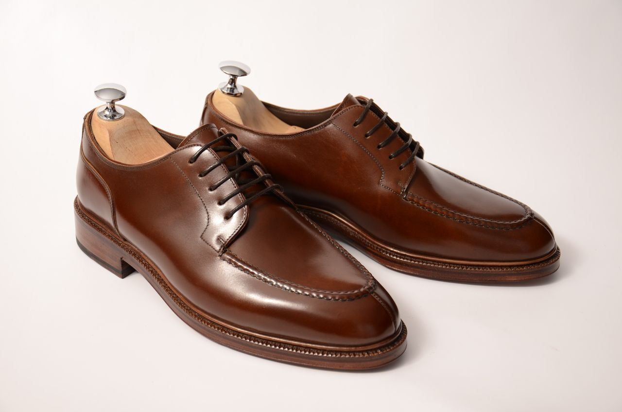 1a3d2ea4485a13 Shell Cordovan Bluchers from Meermin. I'm honestly not into Norwegian split  toes, but this just might make me come around.