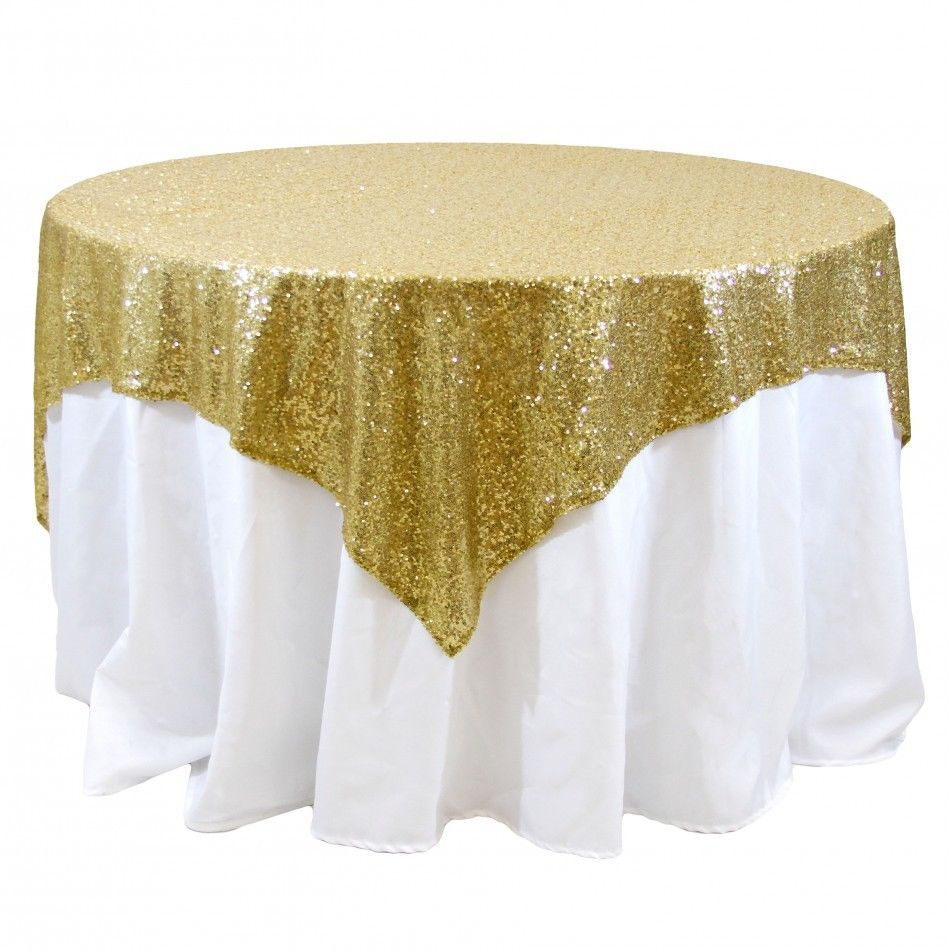 10 Sequins Overlays 54 X 54 Square Tablecloth 4 Colors Table Wedding Catering In Home Garden Wed With Images Wedding Table Decorations Diy Sequin Table Table Overlays