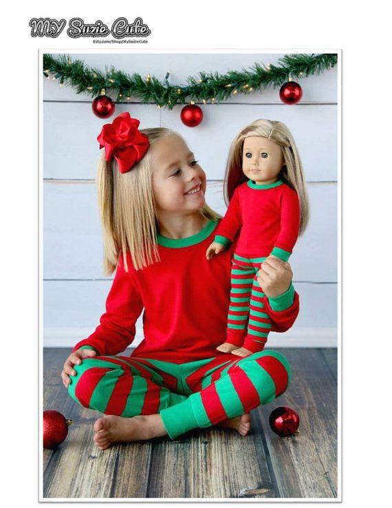 Matching Family Christmas PajamasRed and Green by MySuzieCute
