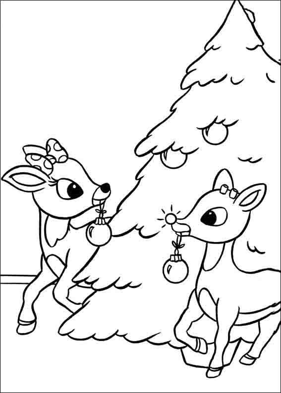 Dibujos para Colorear Rudolph, el reno de la nariz roja 8 | Dibujos ...