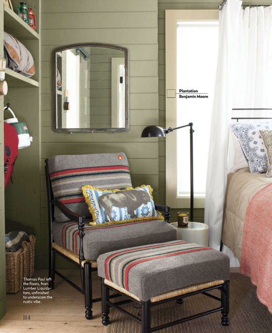 2012 House of the Year - Country Living Sept/12 - Guest Room Cottage: Designed by Thomas Paul with expert Kreis Beall of Blackberry FarmPhoto credit:  Max Kim-Bee
