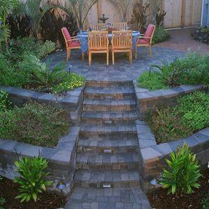Hillside Patio Backyard Steep Hill Ideas Landscaping ... on Steep Hill Backyard Ideas id=57751