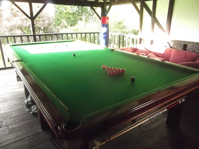 Outdoor Snooker Table At The Grove