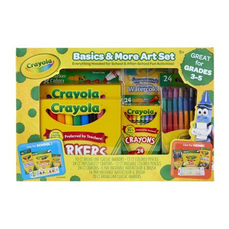 Crayola Basics And More Art Set Walmart Com Quinleigh