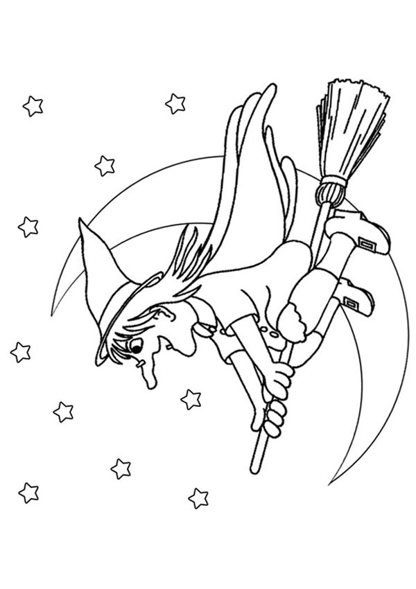 Free Online Witch Colouring Page Witch Coloring Pages Halloween Coloring Happy Halloween Witches