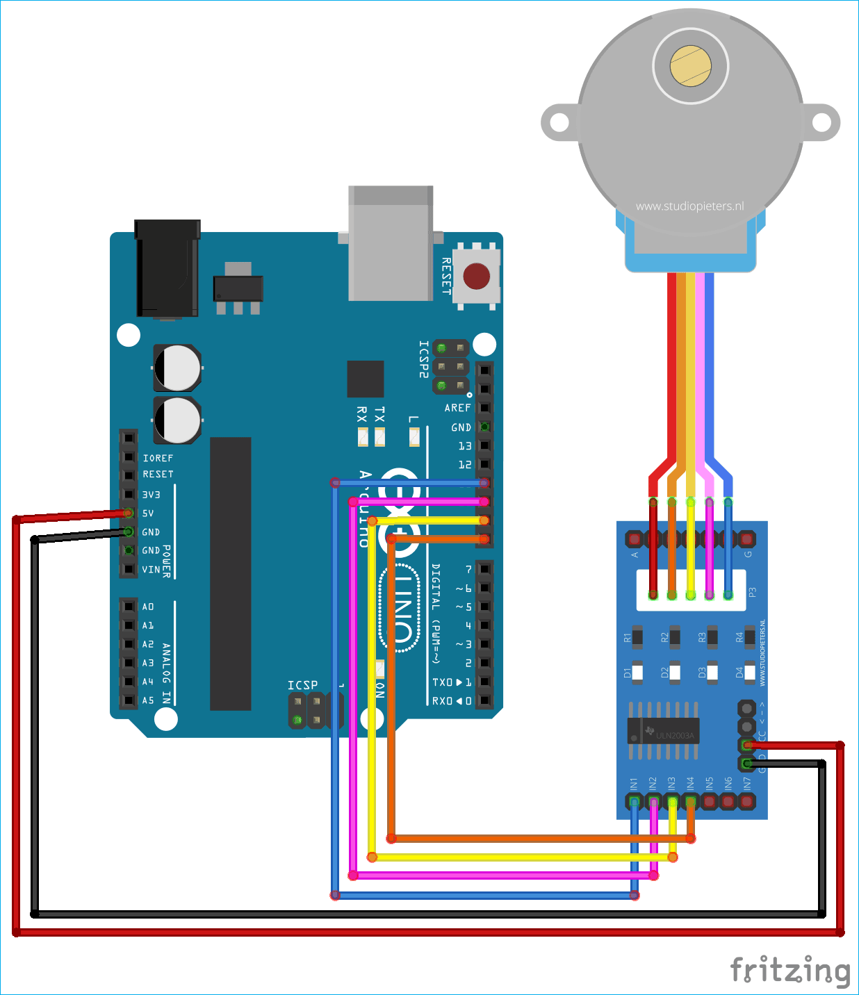 stepper motor control using matlab and arduino electronic circuitstepper motor control using matlab and arduino
