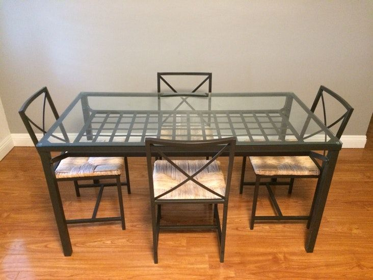 Ikea Granas Table And 4 Chairs Black Glass Ikea Granas Ikea