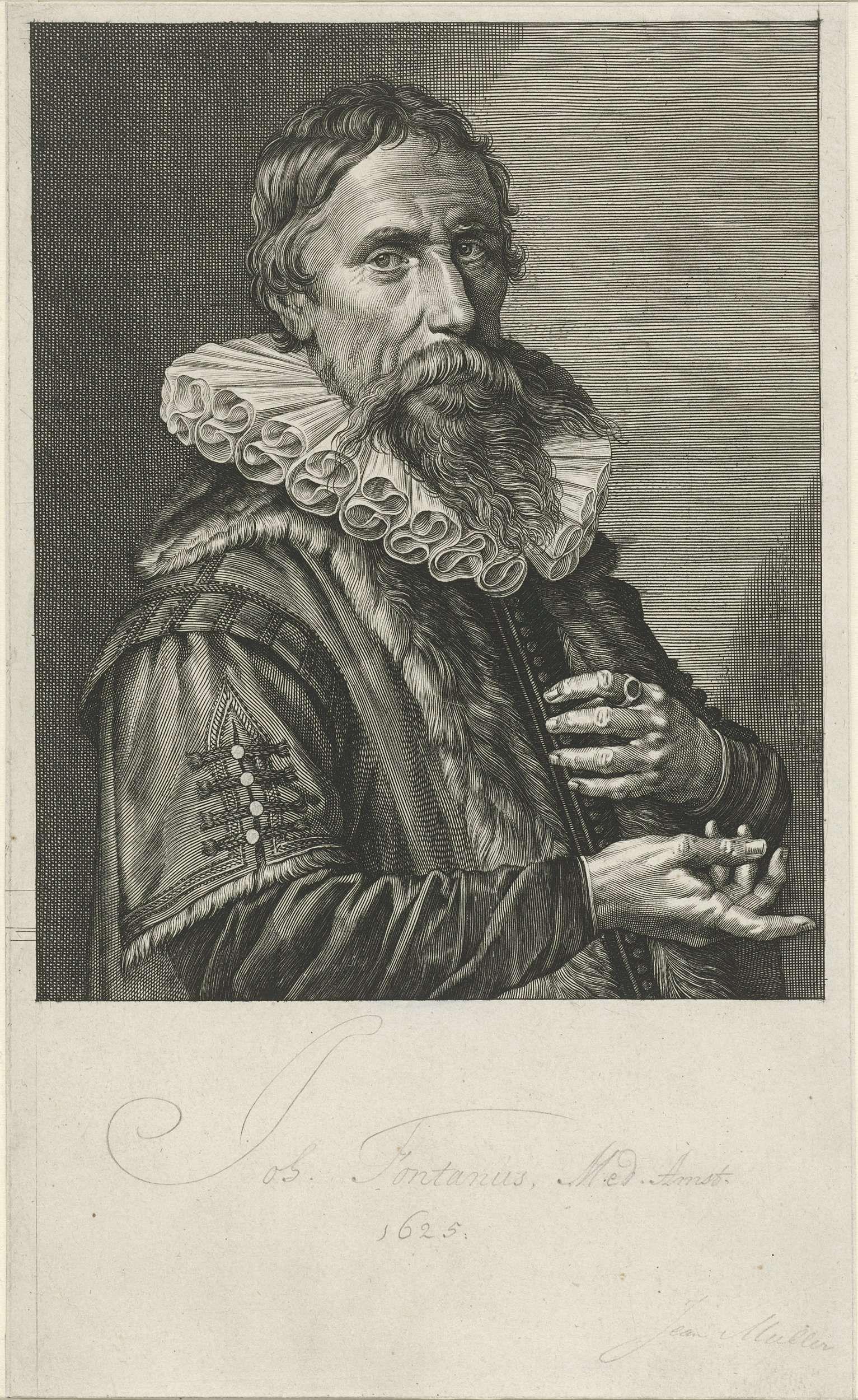 Jan Harmensz. Muller | Portret van Johan Fonteyn, Jan Harmensz. Muller, 1626 | Portret van Johan Fonteyn, arts te Amsterdam.