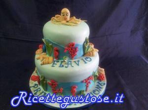 Torta decorata tema mare dolci torte decorate for Decorazioni torte tema mare