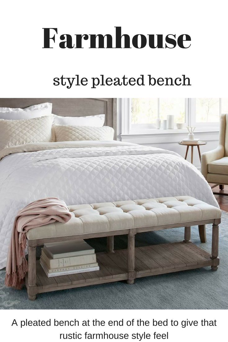 Super Cute Bench To Add To The End Of Your Bed To Add A Romantic And Soft Rustic Feel Farmhouse Rustic End Of Bed Seating End Of Bed Bench Bedroom Furniture