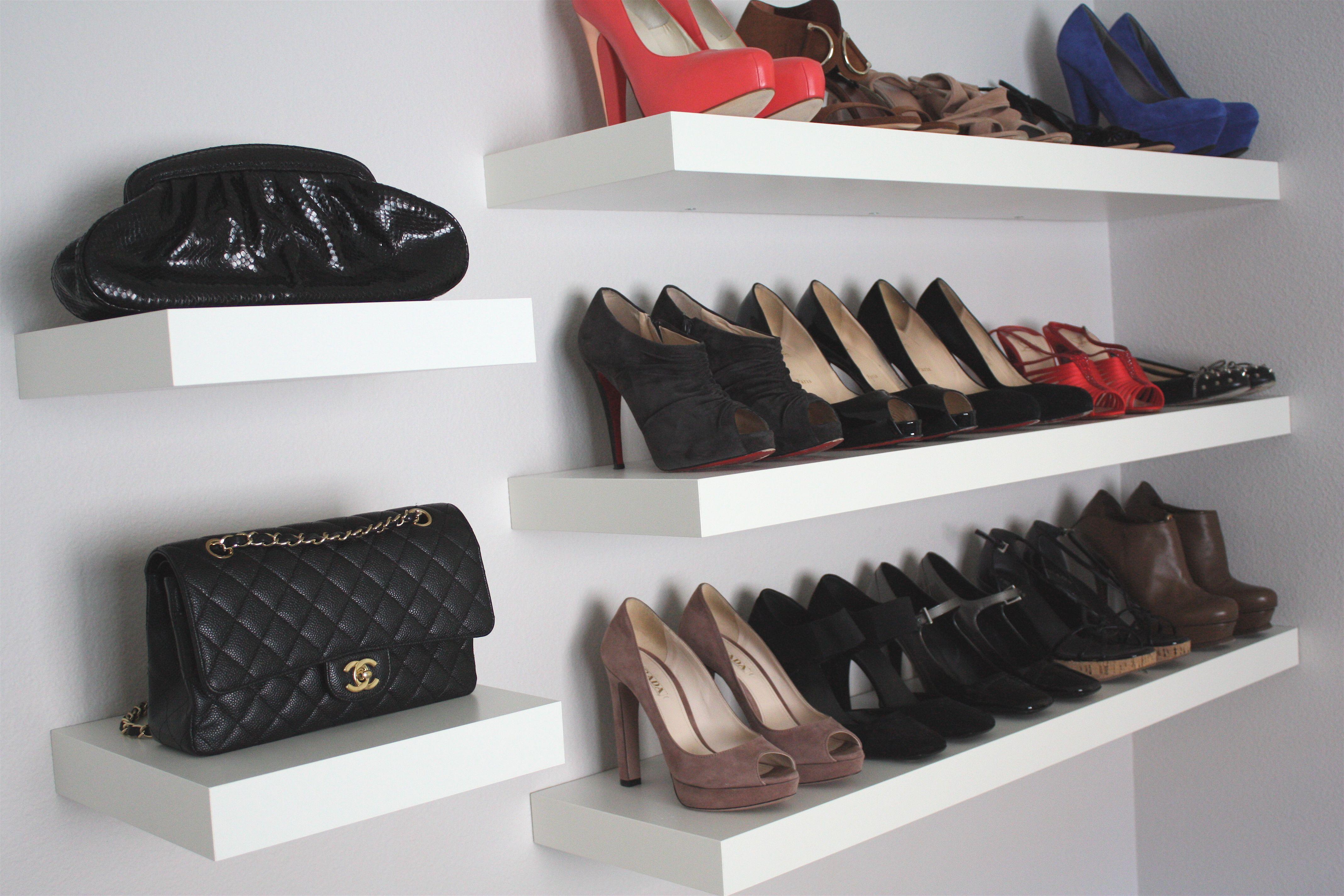 wall shelves for shoes and bags Ikea lack shelves, Ikea