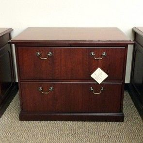 Used Kimball Traditional 2 Drawer File Cabinet Walnut Fil1435
