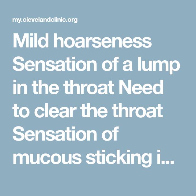 Lump In Throat Cough