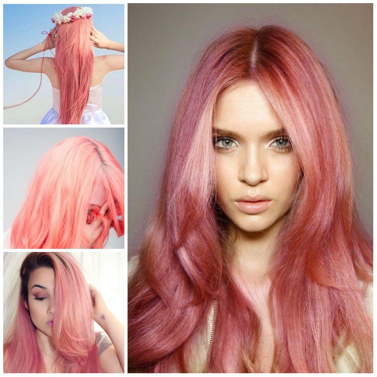 Coral Pastel hair
