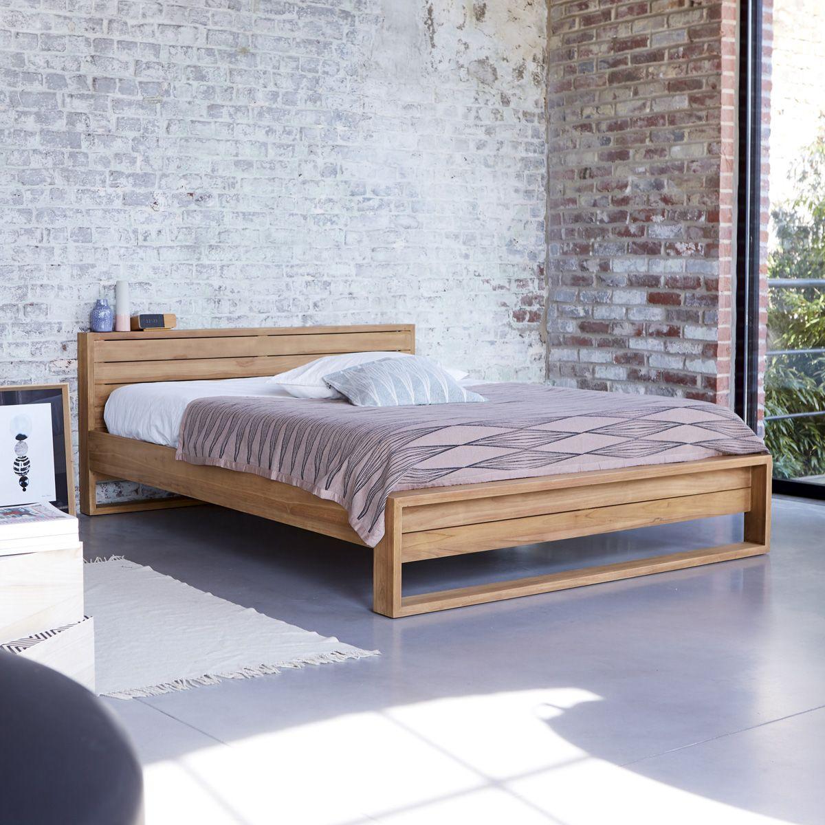 Bett aus Teak 160x200 Minimalys Bed frame, Bedroom bed